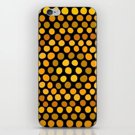 Honeycomb Ombre Dots Pattern iPhone Skin