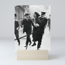 Suffragette Emmeline Pankhurst Being Arrested (May 1914) Mini Art Print