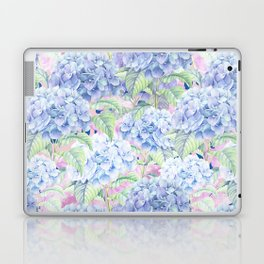 Botanical pink lavender watercolor hortensia floral Laptop & iPad Skin