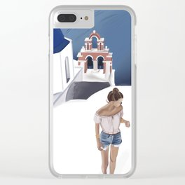 Roots in Greece Clear iPhone Case