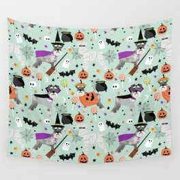 Schnauzer dog breed halloween costumes cute dog gift for fall autumn Wall Tapestry