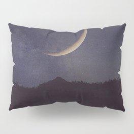 Moon and stars landscape Pillow Sham