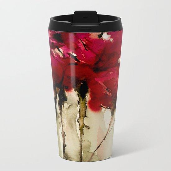 red expression Metal Travel Mug