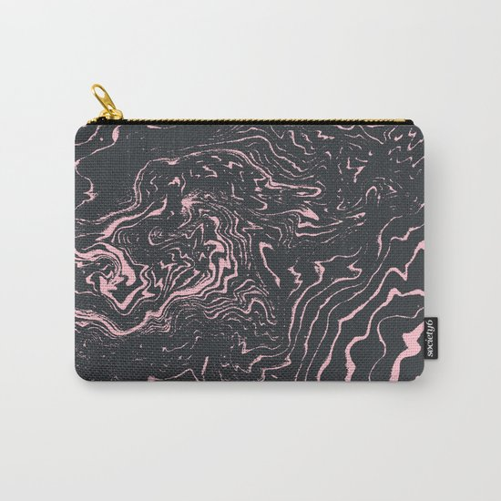 Kagami - spilled ink minimal modern abstract watercolor marble pattern marbling marble phone case Carry-All Pouch
