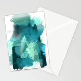 Abstract Jade Color Story Stationery Cards