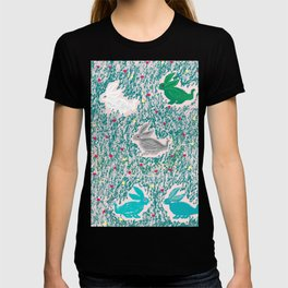 painting for kids-the hares T-shirt
