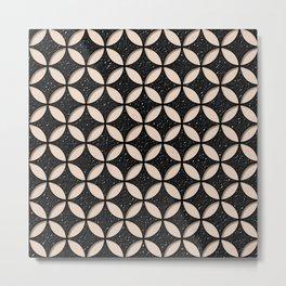 Leather and Skin Circles Pattern Metal Print