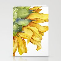 sunflower Stationery Cards featuring Sunflower by Cindy Lou Bailey