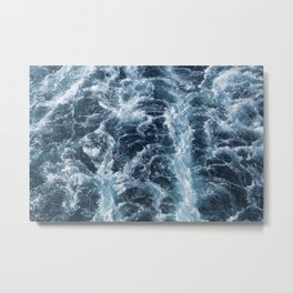 Sea Blue Wake - Pacific Ocean Metal Print
