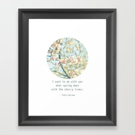What the spring does to cherry trees Framed Art Print