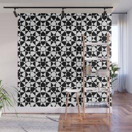 schwarz weiß kariert mz Wall Mural