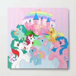 retro g1 my little pony Dream Castle Metal Print