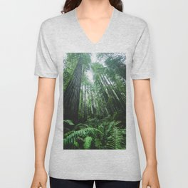 Redwood National Park- Pacific Northwest Nature Photography Unisex V-Neck