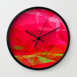Crape Myrtle Abstract Polygons 3 Wall Clock