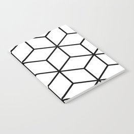 Black and White - Geometric Cube Design I Notebook