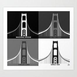 Iconic Mackinac Bridge Art Art Print