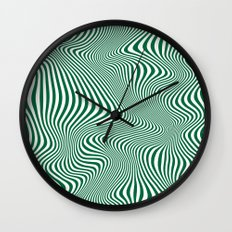 DISTORTION GREEN Wall Clock