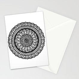 A detailed mandala Stationery Cards