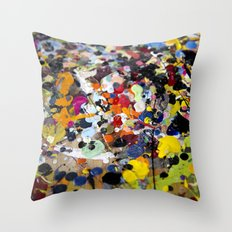 Palette. In the original sense of the word. Throw Pillow