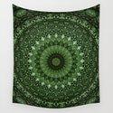 Mandala in olive green tones by jaroslawblaminsky