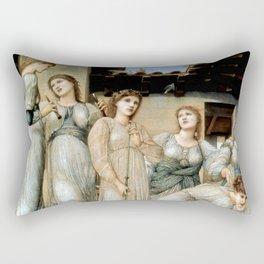 "Edward Burne-Jones ""The Golden Stairs"" Rectangular Pillow"