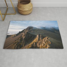 Mountain range in Iceland during Sunset – Landscape Photography Rug