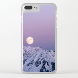 Winter Moonrise Clear iPhone Case