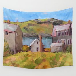 Fish Houses Wall Tapestry