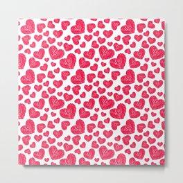 Scribbled hearts Metal Print