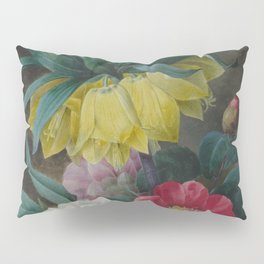 Pierre Joseph Redouté - Four Peonies and a Crown Imperial Pillow Sham