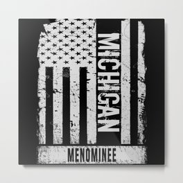 Menominee Michigan Metal Print