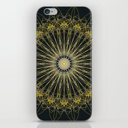 Gold Lines iPhone Skin