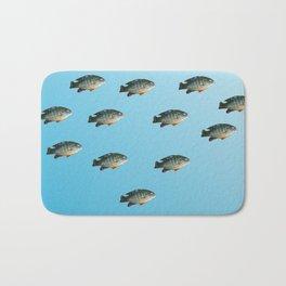 Green Sunfish Bath Mat