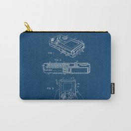 Gameboy blue Patent Carry-All Pouch