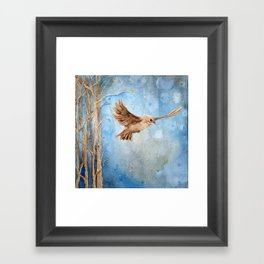 Snow Wanderer Framed Art Print