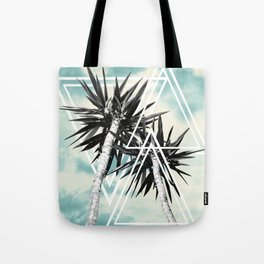 Cali Summer Vibes Palm Trees Geometric Triangles #1 #tropical #decor #art #society6 Tote Bag
