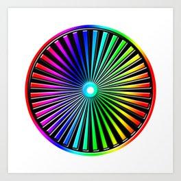Rainbow Rays Design Art Print