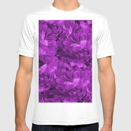 Fancy Flowers Ultraviolet Monochrome #decor #society6 #buyart T-shirt