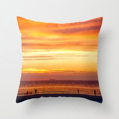 Sunset Now Throw Pillow