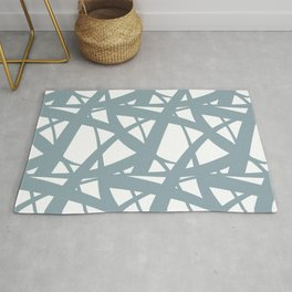 Pale Blue & White Abstract Mosaic Pattern 3 Pairs to Clare's 2020 Color of The Year Good Jeans Rug