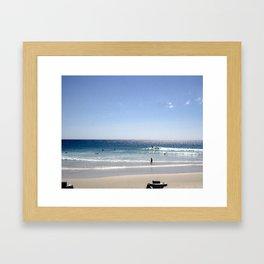 a day at the Beach 8 Framed Art Print