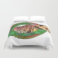 leopard Duvet Covers featuring leopard by Elena Trupak