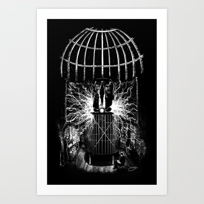 Nikola Tesla's Laboratory Art Print
