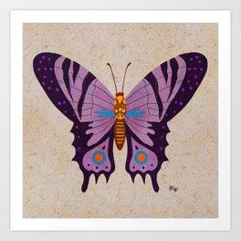 Purple Queen Butterfly Art Print