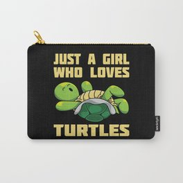 Just A Girl Who Loves Turtles Gift Carry-All Pouch