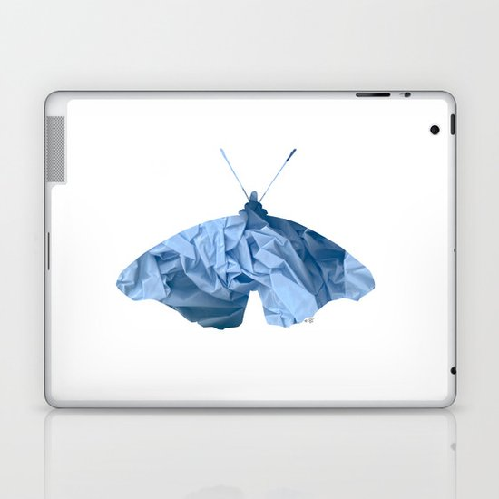Blue Plastic Butterfly Collage Laptop & iPad Skin