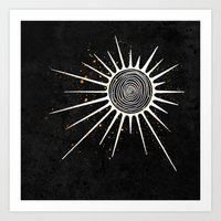 Sunrays and Swirls Inktober :: I Feel An Urgency Art Print