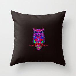 Owl Mosaic Pattern Summer Throw Pillow