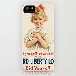 Vintage poster - Third Liberty Loan iPhone Case