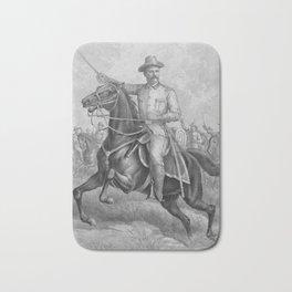 Colonel Theodore Roosevelt On Horseback Bath Mat